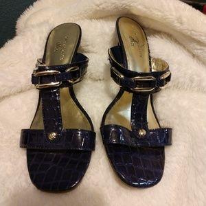 Anne Klein Navy Sandals